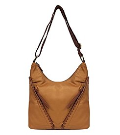 GAL Pearlized Washed With Whipstitch Slant Pocket Crossbody