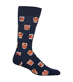 Hot Sox® Men's Old Fashioned Print Crew Socks