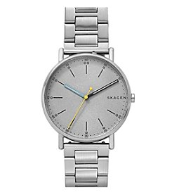 Skagen Men's Signatur Three-Hand Silver Watch With Silver Plating And Silver Metal Strap