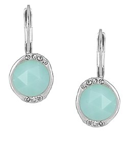 The Sak® Silvertone Pave Drop Earrings
