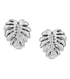 The Sak® Silvertone Leaf Stud Earrings