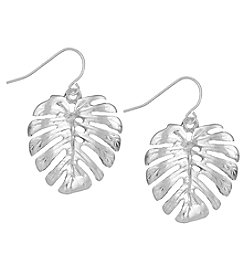 The Sak® Silvertone Palm Leaf Drop Earrings