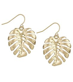 The Sak® Goldtone Palm Leaf Drop Earrings