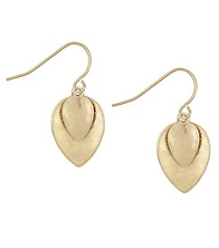 The Sak® Goldtone Layered Petal Drop Earrings