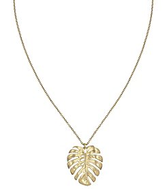 The Sak® Goldtone Leaf Pendant Necklace