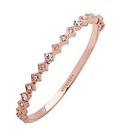 Givenchy® Rose Goldtone Simulated Crystal Bangle Bracelet