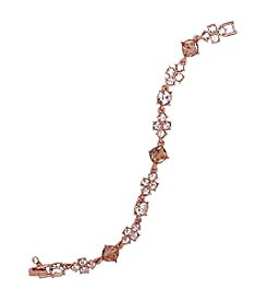 Givenchy® Rose Goldtone Faceted Flex Bracelet