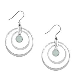 Lucky Brand® Stone Hoop Earrings