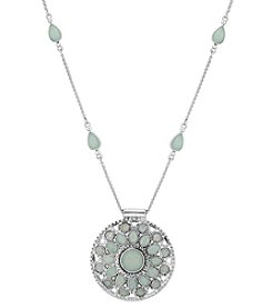 Lucky Brand® Jade Circle Pendant Necklace