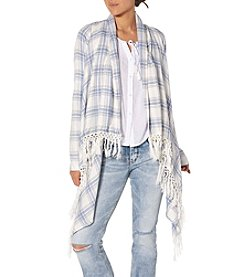 Silver Jeans Co. Plaid Hankerchief Cardigan