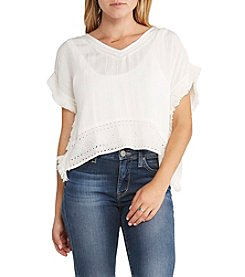 Silver Jeans Co. Crop Fringe Caftan Top