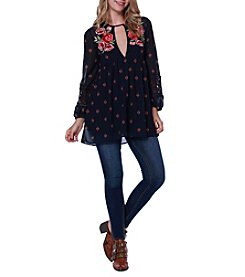 Skylar & Jade™ Embroidered Tunic Top