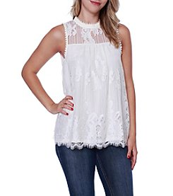 Skylar & Jade™ Lace Illusion Top