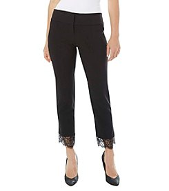 A. Byer Lace Hem Ankle Pants