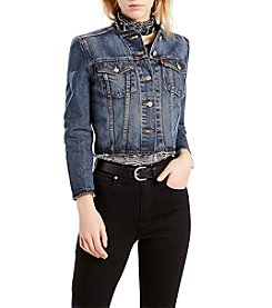 Levi's® Seamed Crop Trucker Jacket