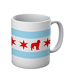 Sophisticated Pup Chicago Doodle Mug