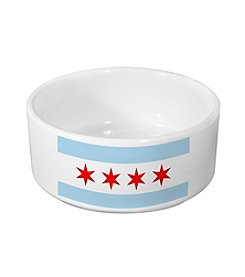Sophisticated Pup Small Chicago Dog Bowl