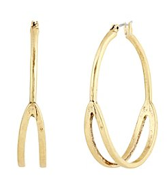 Lucky Brand® Goldtone Split Hoops
