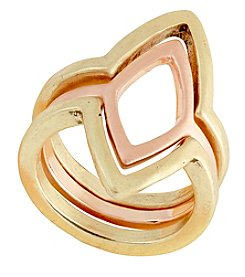 Lucky Brand® Two Tone Petal Stack Ring