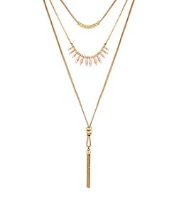 Lucky Brand® Lucky Layered Rose Gold Choker Necklace