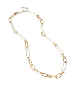 Robert Lee Morris Soho™ Two Tone Oval Link Long Necklace