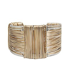 Robert Lee Morris Soho™ Two Tone Wire Wrapped Sculptural Cuff Bracelet