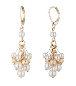 Anne Klein® Simulated Pearl Drop Earrings