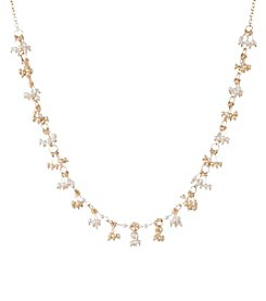 Anne Klein® Shaky Simulated Pearl Collar Necklace