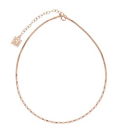 Anne Klein® Blush Simulated Pearl Choker Necklace
