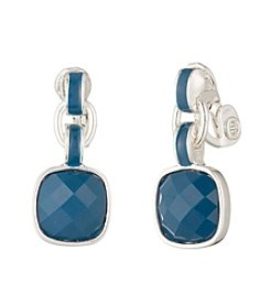 Anne Klein® Blue Multi Clip Drop Earrings