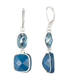 Anne Klein® Blue Multi Drop Earrings