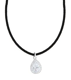 Anne Klein® Silvertone Simulated Crystal Choker Necklace