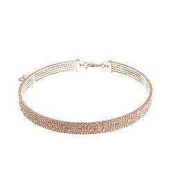 Anne Klein® Goldtone Crystal Coil Choker Necklace