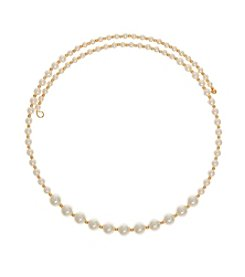 Anne Klein® Simulated Pearl Coil Choker Necklace
