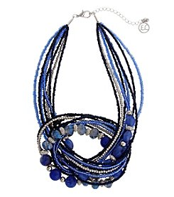 Erica Lyons® Bohemian Rhapsody Blue Knot Necklace