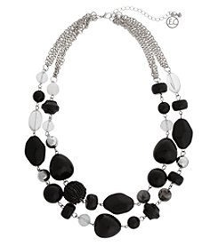 Erica Lyons® Bohemian Rhapsody Two Row Necklace