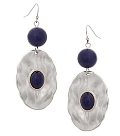 Erica Lyons® Bohemian Rhapsody Drop Oval Earrings