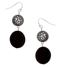 Erica Lyons® Bohemian Rhapsody Two Drop Earrings