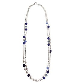 Erica Lyons® Bohemian Rhapsody Two Layer Necklace