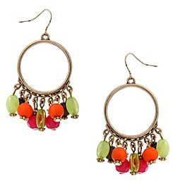 Erica Lyons® Bohemian Rhapsody Hoop Earrings