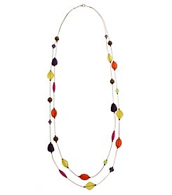 Erica Lyons® Bohemian Rhapsody Two Row Illusion Necklace