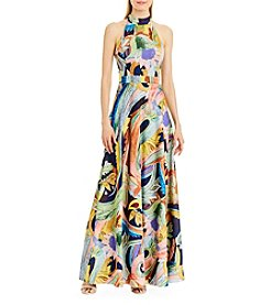 Nicole Miller New York™ Mock Neck Printed Dress