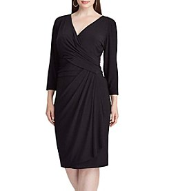 Chaps® Plus Size Solid Wrap Dress