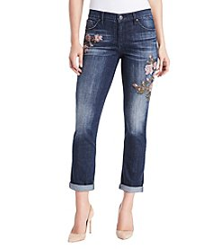 Miracle Jean® Embroidered Boyfriend Jeans