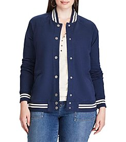 Chaps® Plus Size French Terry Baseball Jacket