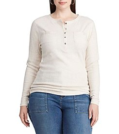 Chaps® Plus Size Cotton Henley