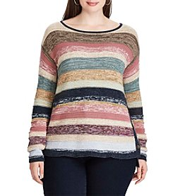 Chaps® Plus Size Striped Cotton Sweater