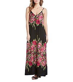 Karen Kane® Embroidered Rose Maxi Dress