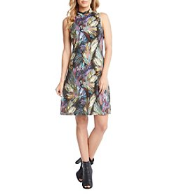 Karen Kane® Palm Mock Neck Dress