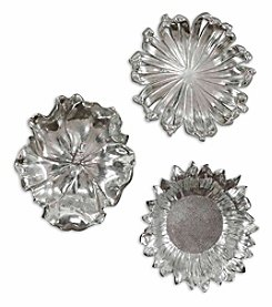 Uttermost Silver Flowers Wall Art